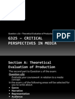 Copy of Intro to A2 Course - G325 Critical Perspectives in Media - Question B -Final Copy
