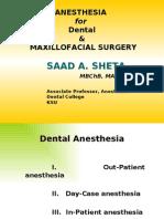 Anesthesia for Maxillofacial Procedure