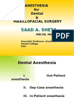 Anesthesia for Maxillofacial Procedure