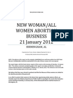New Woman All Women Abortion Business