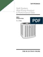 2TWB0 10 SEER Monofasica Heat Pump - 1 a 5 TR