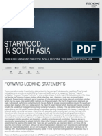 Starwood Hotels - South Asia Review