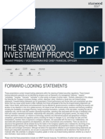 Starwood Investment Proposition and 3-Year Outlook