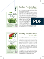 """Feeding People is Easy"" Book Flyer"
