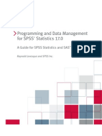 Programming and Data Management for SPSS Statistics 17.0 a Guide for SPSS Statistics and SAS Users