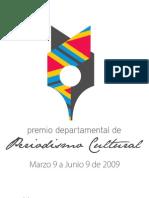 Convocatoria Periodismo Cultural 2009