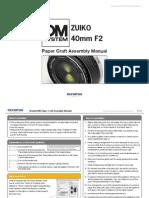 ZUIKO 40mm F2 Papercraft Manual