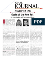 Alliotts Bankruptcy Article Costs of New Act