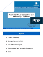 Automation Projects at Codelco And