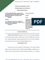 HENDRICKSON v. ACE AMERICAN INSURANCE et al Notice of Removal