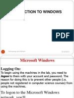 Intrduction Windows