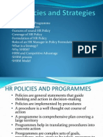 HR Policies and Strategies