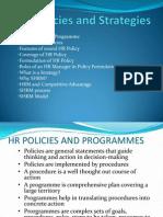 HR Policies and Strategies