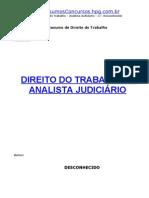 Trab-Direito Do Trabalho Analista Judiciario