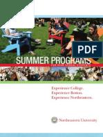 Summer Program Brochure Northeastern Univ