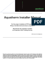 Aquatherm Installer Manual