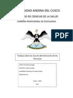 VÍAS DE ADMINISTRACIÓN DE LOS FÁRMACOS