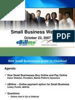 eBillme Small Business Webinar