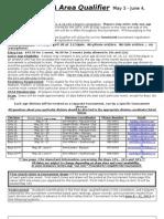Information Sheet for 2013 GCTA Area Qualifier