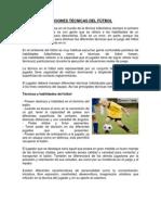 ACCIONES TÉCNICAS DEL FÚTBOL