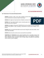 Resolution - Oil Tax Reform Initiative