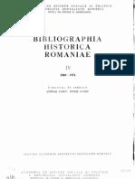 Bibliographia Historica Romaniae, Tom 04 (1969-1974)