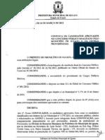 Relação de novos convocados no concurso da Prefeitura de Iguatu