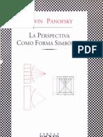 ErwinPanofsky_LaPerspectivaComoFormaSimbolica