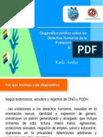 Karla Avelar (Comcavis Trans), Diagnóstico jurídico sobre los derechos humanos de la población LGBTI de