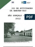RELATORIO ATIVIDADES 2012