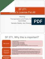 SF271 Presentation