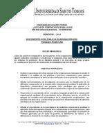 DOCUMENTO GUIA PARA LA ELABORACIÓN DEL  TRABAJO MODULAR 2013-1