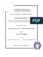 Memoria Profesional para profesores de español como segunda lengua UMSNH Gerardo Farías Rangel (2010)