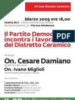 Incontro con Cesare Damiano (Fiorano, 16 marzo 2009)