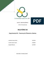 Relatório 3 - Circuitos I