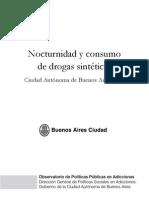 Nocturnidad y Consumo de Drogas Sinteticas