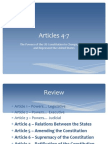 Notes - Constitution - Articles 4-7