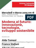 Incontro Modena al futuro