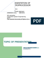 presentation of microprocessor