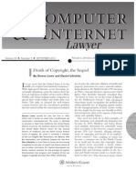 Death of Copyright, The Sequel (The Computer and Internet Lawyer, Sept. 2012)