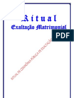 RITUAL DE EXALTAÇÃO MATRIMONIAL PÚBLICO