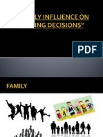 Family influence on buying decision
