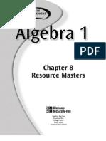 algebra 8-1studyguide