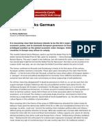 Europe Speaks German by Perry Anderson