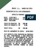 Comprovante Depósito - Guaciara - 2013.01.16