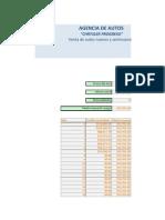 Hoja Excel, Agencia de Autos