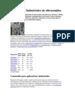 Dispositivos Industriales de Ultrasonidos