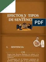 1 Efectos y Tipos de Sentencias