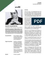 Hans Leijström - konsultprofil