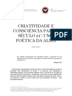 CRIATIVIDADE E CONSCIÊNCIA PARA O SÉCULO 21